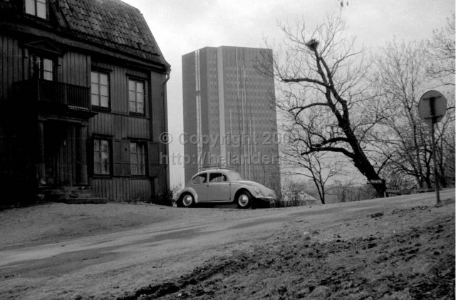 Wennergren center from Vanadislunden, Stockholm. (1966)