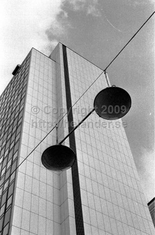 The sky scrapers at Hötorget, Stockholm. (1966)
