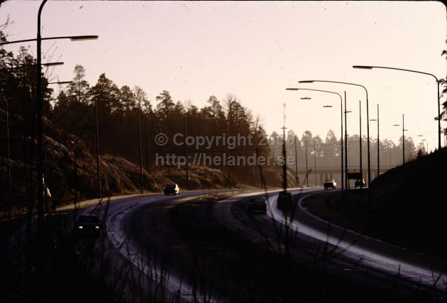 Motorway between Älta and Tyresö. (1972)